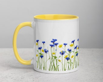 Wildflower Mug with Color Inside
