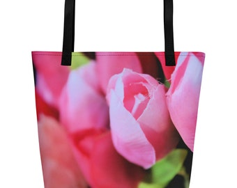 Spring Tulip Beach Bag Tote
