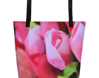 Spring Tulip Beach Bag Tote