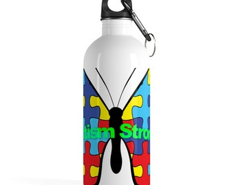 Autism Strong Water Bottle