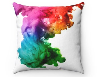 Color Ink Spun Polyester Square Pillow