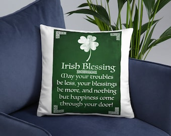 Irish Decor-Irish Gifts-Irish Blessing-St Patricks Day Decor-St Patricks Day Decorations-Irish Pillow-Irish Pillow Cover-Irish Throw Pillow
