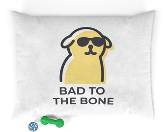 Funny Pet Bed-Pet Bed-Pet Beds for Dog-Pet Bedding-Pet Bed Cover-Pet Beds for Small Dog-Bad To The Bone Pet Bed-P and C Designs Co