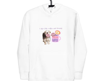 I Also Like Donuts Unisex Premium Hoodie