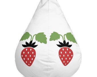 Strawberries Bean Bag Chair Cover