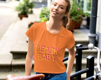 Beach BABY All-Over Print Crop Tee