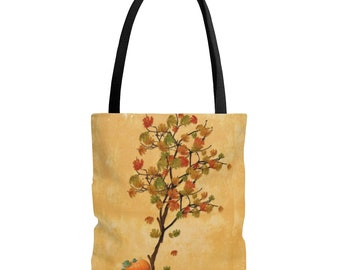 Fall Tree AOP Tote Bag