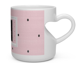 I Read Past My Bedtime Heart Shape Mug