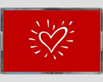 Red Heart Acrylic Trays