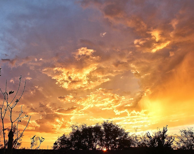 Featured listing image: Arizona Sunset Wall Art Photography Gallery  Style Canvas