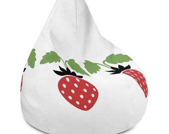 Strawberries Bean Bag Chair Cover