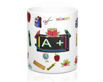 A+ Teacher Appreciation Mug 11oz