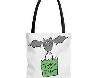 Trick or Treat Halloween Bat Tote Bag