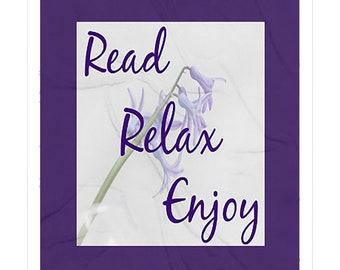 Read Relax and Enjoy Fleece Sherpa Blankets