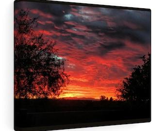 Desert Sunset Canvas Gallery Wraps
