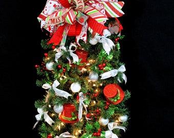 Christmas Tree-Christmas Tree Decorations-Christmas Tree Wall Hanging-Wall Hanger Decoration-Apartment Christmas Tree-Lights Up!