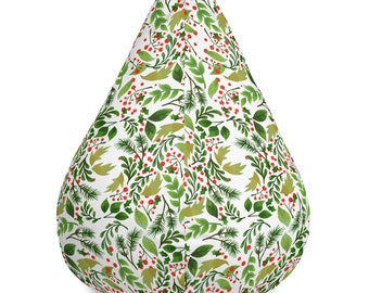 Christmas Holly Bean Bag Chair w/ filling