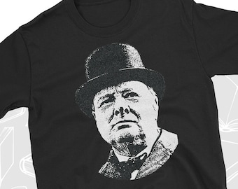 Various Sizes//Colours Winston Churchill T-shirt Two Fingers up English