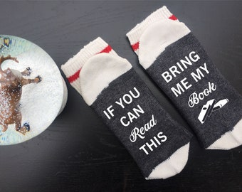 Bring Me My Book If You Can Read This Gift For Readers Christmas Mom Socks Birthday Mother Day Lovers