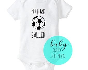 bf73fdf96 Future Baller Soccer Onesie Gerber Brand Bodysuit - Baby Shower Gift  Newborn Baby Clothes