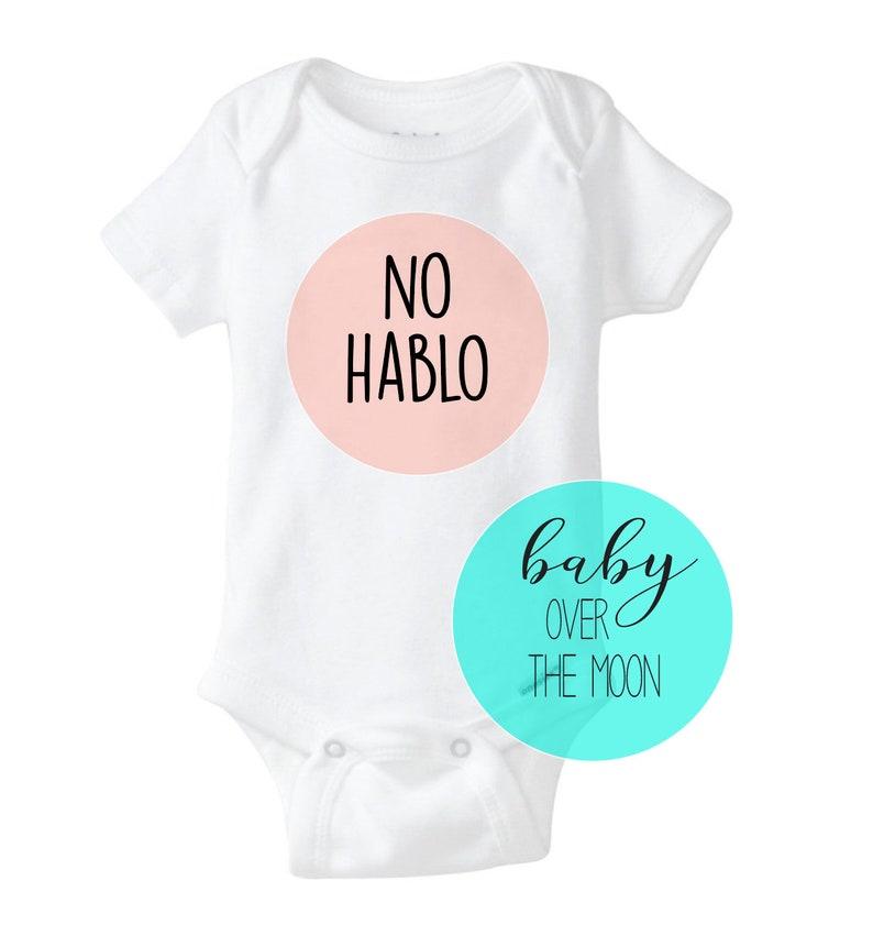 Funny NO HABLO Onesie Gerber Brand Bodysuit Baby Shower Gift Newborn Baby Clothes Spanish