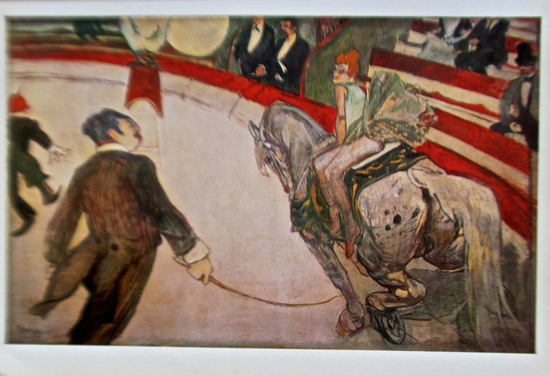 Toulouse-Lautrec  Reprint of the Painting Cirque Fernando-The Equestrienne 16x11 Offset Lithographic Wall Art and Decor Framable