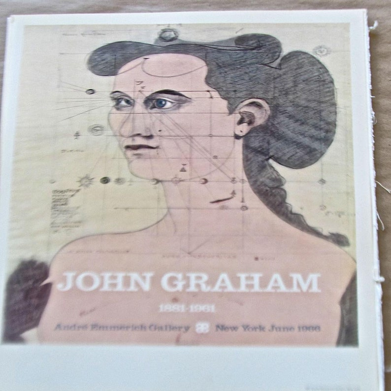 John Graham Poster for Andre Emmerich Show 16 x11 Offset Lithograph
