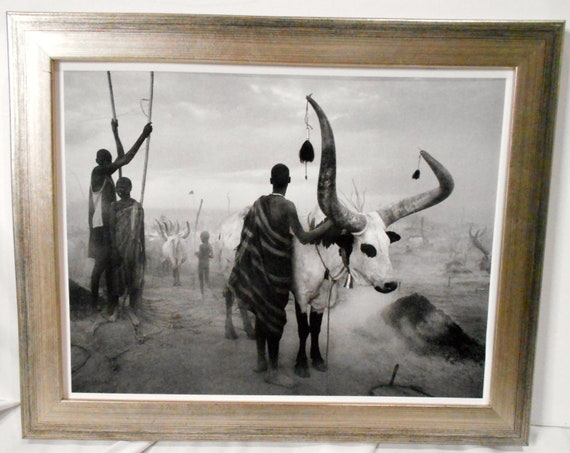 Taschen, Germany. Helmut Newton interest hand signed photograph Southern Sudan/' /'Kei SEBASTIAO SALGADO