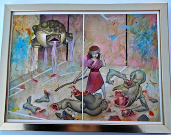 James Jean-  Broken -in a Gold Tone Frame-17x13 --Fantasy Art for Children -Perfect for a Child's Room