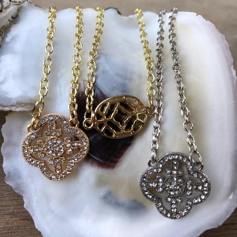 Vintage Clover Necklace