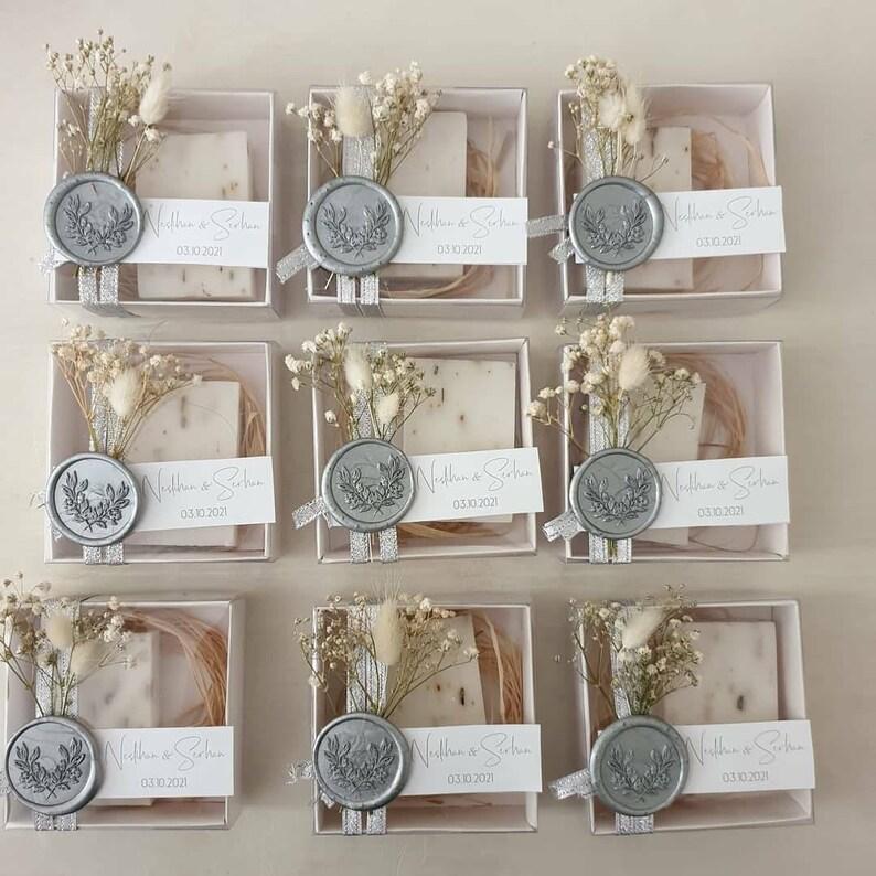 Hochzeitsseife als Gastgeschenk