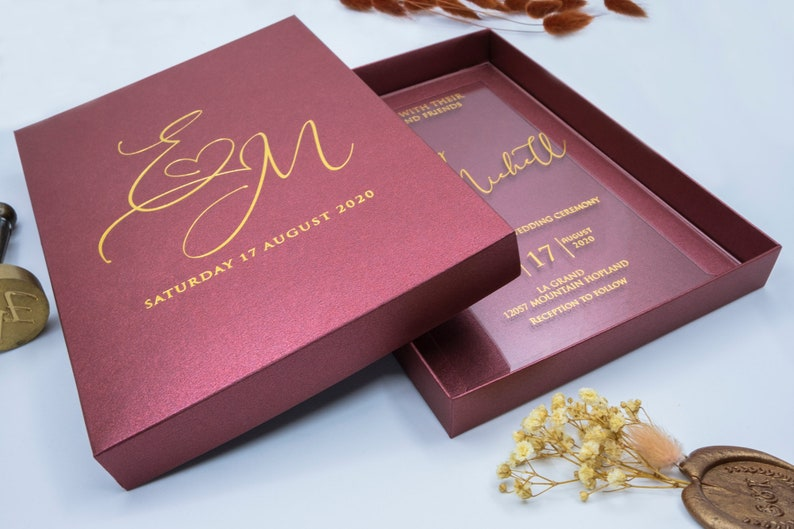 luxus-hochzeitseinladung acryl-einladungen plexiglas | etsy