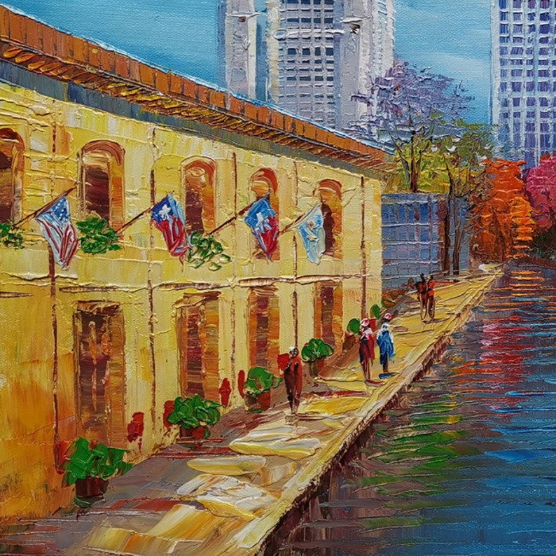San Antonio Marriott Riverwalk-KoKing Fort-z248-Home Decor Holiday Artwork Texture Painting Dining Wall Art