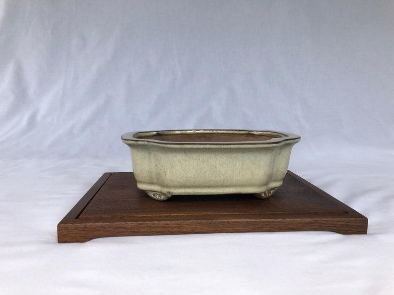 low profile Bonsai stand in walnut