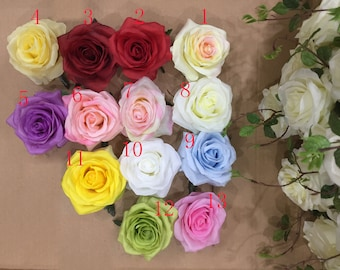 Silk flower heads etsy silk flower heads wholesale silk roses heads 60 flowers 9cm for flower wall kissing balls wedding arrangement flower supplies mightylinksfo