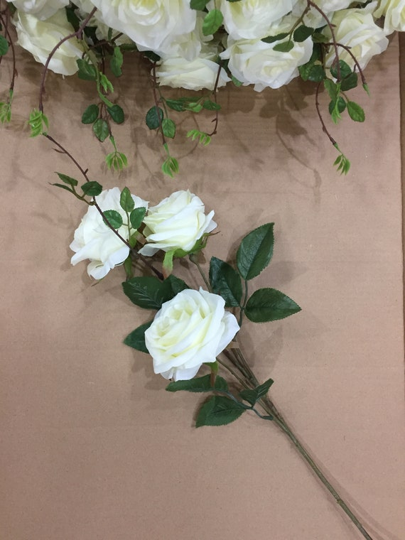 Silk Flower Wholesale Silk Roses 3 Heads 20 Branches Flowers Etsy