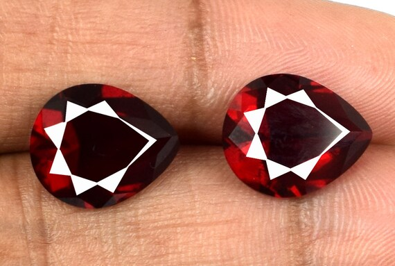 Pear Burma Ruby VS Clarity Gemstone Pair Natural 6.45 Ct Untreated Certified