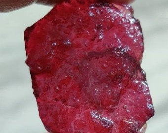 Natural Ruby Rough 105Ct Uncut Shape African Red Ruby Rough Gemstone Certified Ruby Rough Raw Ruby Ruby Chunk Ruby Slice Natural Ruby