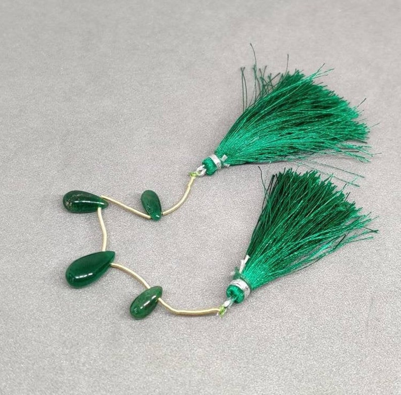 100/% Natural Emerald Smooth Pear Shape BrioletteZambian Emerald Smooth Matching Pair 4 Pieces11.85 Carat