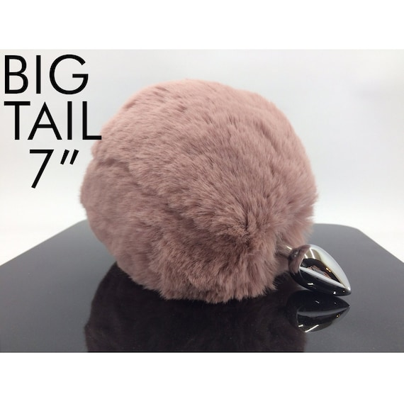Big Pink Bunny Tail Butt Plug For Mature By Okova  Etsy-2464