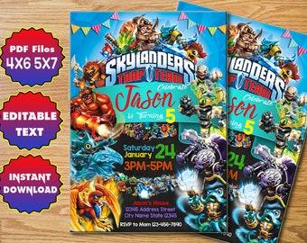 Skylanders Invitation Birthday Printable CreativeMV 01