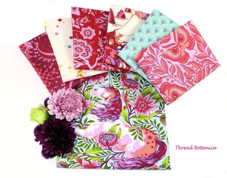 Cotton Candy Tula Pink Pinkerville Fabric Bundle