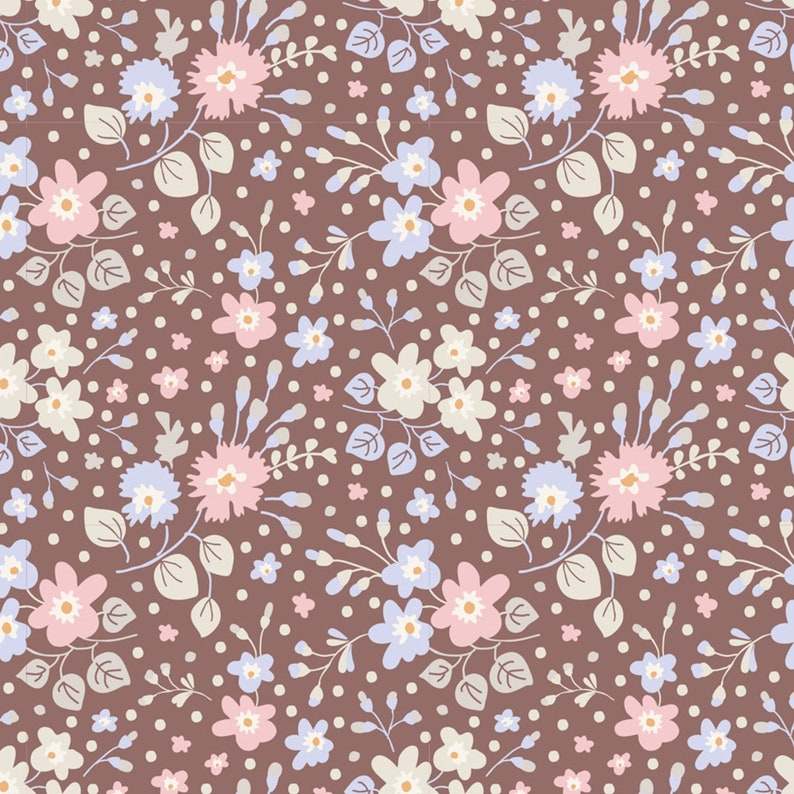 20 Spring Blossoms Purple Fat 116 Sixteenth for Primitive Rug Hooking Hand Dyed Wool Fabric