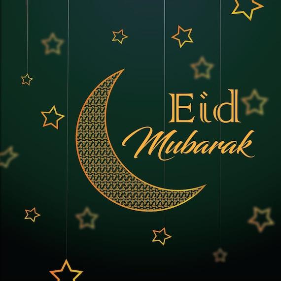 eid mubarak cards pack of 20  etsy