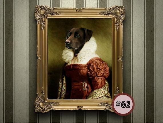 Painting Art Renaissance pet Pet lovers gift Cowboy Dog and Cat Portrait Custom Pet Portrait from your photo