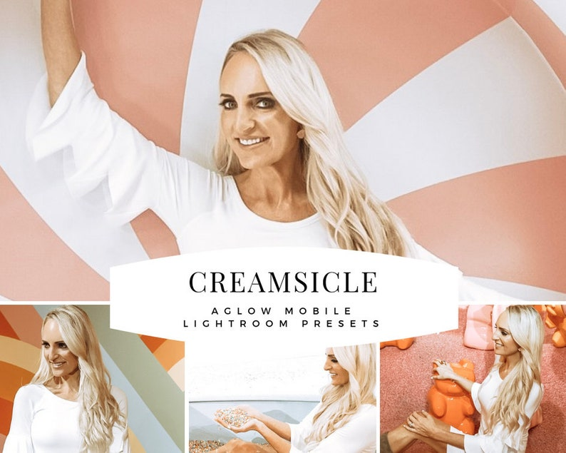 CREAMSICLE AGLOW Mobile Lightroom Preset / Blogger and image 0