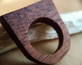 Mahogany ring, wooden ring, upcycled wood, all sizes, handmade