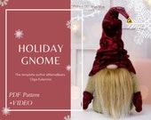 Pattern Christmas Gnome Video instruction , Toy Handmade Norwegian Gnome Christmas Decor Santa New year Christmas decoration Interior toy