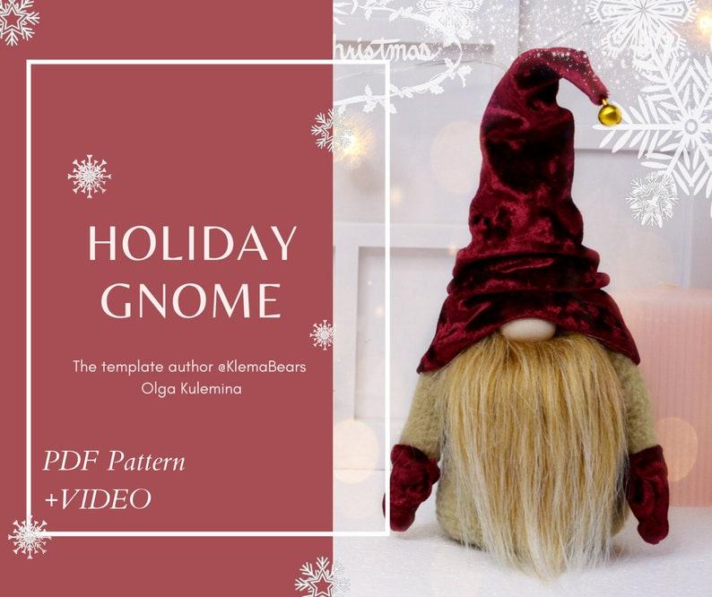 Pattern Christmas Gnome Video Instruction Toy Handmade Etsy