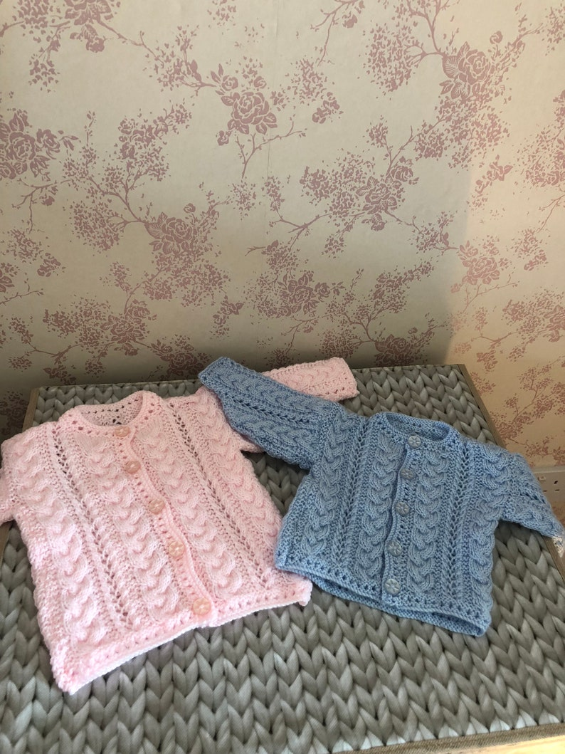 Knitted Baby Cardigans 0-6 Months